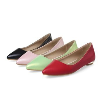 Fashion Online Women Flats Pointed Toe Girl Casual Loafers Shoes Ballet Shoes