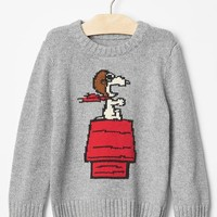 Gap Babygap + Peanuts Intarsia Graphic Sweater