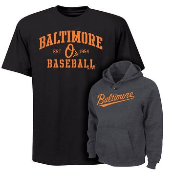 Majestic Baltimore Orioles Hoodie & Tee Set - Big & Tall, Size: