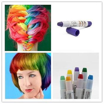 Joyous 1PC Hair Color Professional Pick Non-Toxic Temporary Salon Hair Color Pen Dye Pastels 14 Colors