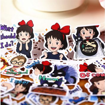 40pcs/ pack Creative Cute Self-made Kiki's Delivery Service  Scrapbooking Stickers /Decorative Sticker /DIY Craft Photo Albums