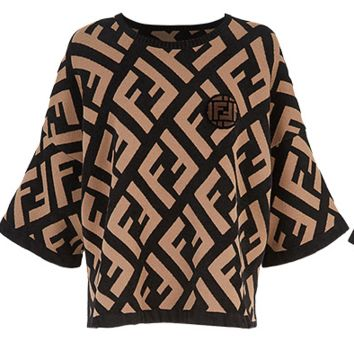 Soft Comfortable FENDI Top Tee Shirt