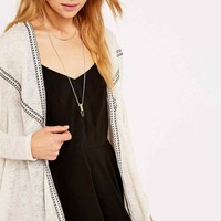 Staring at Stars Slubby Trim Cardigan in Ivory - Urban Outfitters