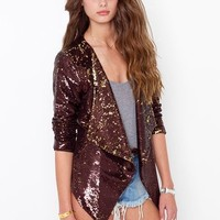 Dusted Sequin Blazer in  Clothes at Nasty Gal