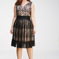 Eyelash Lace Overlay Dress
