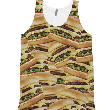 Pile of Cheeseburgers Full All Over Print Unisex Tank Top