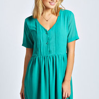 Sian Button Detail Smock Dress