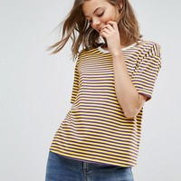 ASOS T-Shirt In Sporty Stripe and Boxy Fit at asos.com