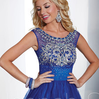 Hannah S. 27867 -Royal/Silver Tulle Short Homecoming Dresses Online