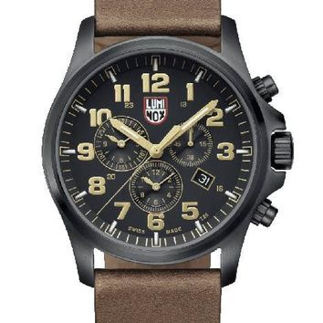 Luminox Atacama Field Mens Chrono Alarm 1940 Series - Brown Leather Strap