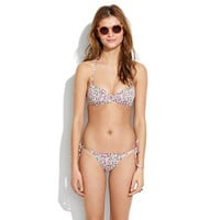 Ruched Bikini Top in Flora