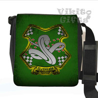 Slytherin - Messenger Shoulder bag, inspired by Harry Potter, Slytherin crest Small Bag, Birthday gift, Harry Potter bag