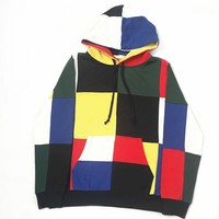Korean Hats Fashion Patchwork Couple Hoodies [11593284807]