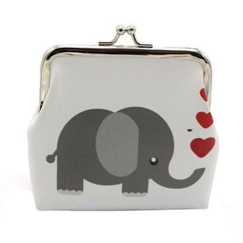Elephant snap wallet