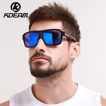 Sunglasses Men Sport eyewear HD Polarized Sunglasses Square Reflective Coating Women outdoor