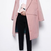 Big Pocket Coat | Pink