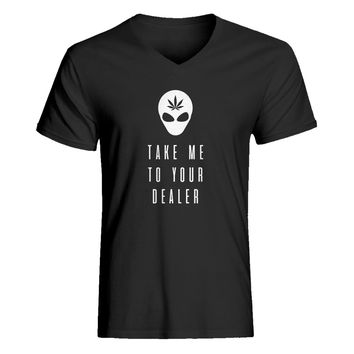 Mens Take Me to Your Dealer V-Neck T-shirt
