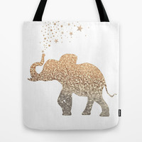 GATSBY ELEPHANT Tote Bag by Monika Strigel
