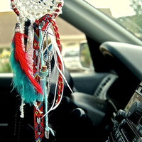 Mini car dreamcatcher Indian style by TheLittleBigShop on Etsy