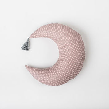 Moon baby decor – decorative pillow – celestial pillow – baby pillow – pink room décor - breastfeeding pillow