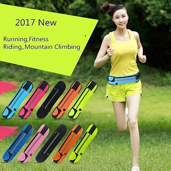 Sport Running Waist Pack Waterproof Belt Adjustable Bag Diving Material Pouch Case Phone For iPhone 4 4S 5 5S SE 5C 6 6S 7 Plus