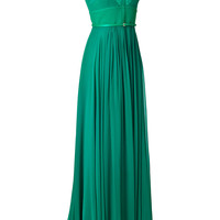 Elie Saab - Crepe Gown with Lace Insets