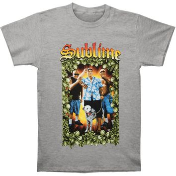 Sublime Men's  Tropical Group Photo Mens Soft T Slim Fit T-shirt Athletic Heather