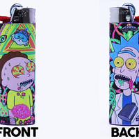 Rick and Morty Bic Lighter - Custom Made - High Quality