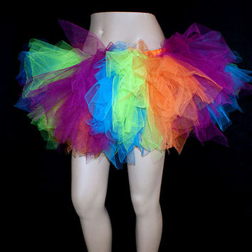 UV Ultra Neon Striped Kawaii Trashy TuTu Skirt ...All by mtcoffinz