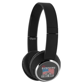 American Flag Headphone Try Stepping On This One Wireless Bluetooth Headphones Beebop