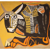 One Kings Lane - Industrial Chic - Abstract Bull