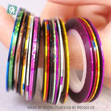 40 Colors Nail Rolls Striping Tape Strips Line Nail Art Decoration Sticker Nail DIY Kit Nail Art UV Gel Tips