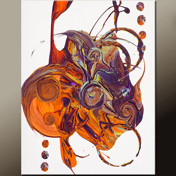 Abstract Art Print 11x14 Print - Contemporary Modern Art by Destiny Womack  - Chaos in Motion - dWo