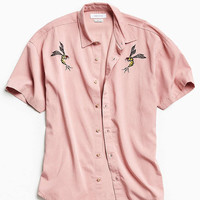 UO Customized Tencel Short Sleeve Button-Down Shirt - Urban Outfitters