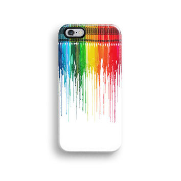 Rainbow dripping paint iPhone 6 case, iPhone 6 plus case S472