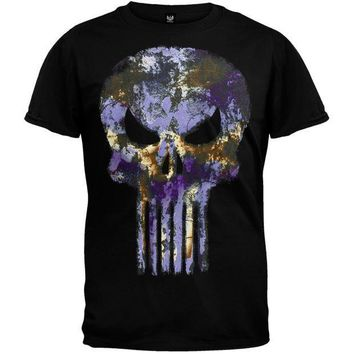 PEAPGQ9 Punisher - Purple Skull T-Shirt