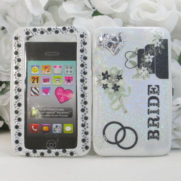 Bride Gifts - Bachelorette Gifts - Iphone 4 Case - Iphone Cover - Samsung Android - Blackberry - Smart Phones - Wallet Wristlet