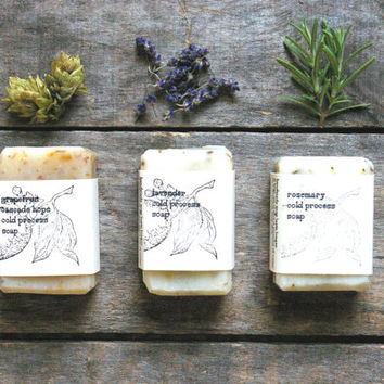 Homemade soap, cold process soap, rosemary soap, small bar , all natural soap, lightly scented, herbal soap, vegan soap, handmade soap