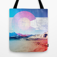 COLORADO DAY Tote Bag by Maioriz Home