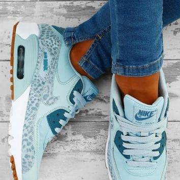 Nike Air Max 90 Blue Leopard Trainers