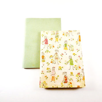 Unlined Notebooks | Travel Notebooks | Gift for Girls | Cute Notebooks | Mini Notebooks | Little Journals | Retro Notebooks | Blank Books