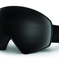 VonZipper - JetPack Black Satin BBO Goggles, Blackout Lenses
