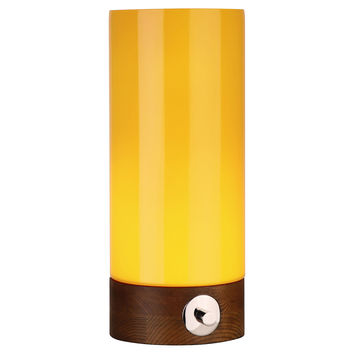 Robert Abbey, Capri Small Table Torchiere, Yellow, Table Lamps