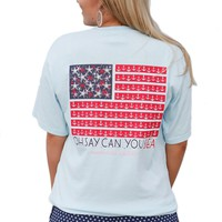 Oh Say Can You Sea Tee in Seaside Blue by Jadelynn Brooke