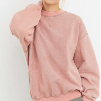 Urban Renewal Vintage Customised Pink Bleached Sweatshirt - Urban Outfitters