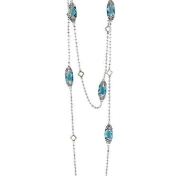LAGOS 'Caviar Color' Long Semiprecious Stone Station Necklace | Nordstrom