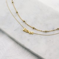 Layered Cursive Letter Necklace II