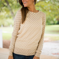 Lots Of Dots Sweater, Cream
