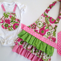 Sibling Aprons, Big Sister Little Sister outfits, Girl Ruffle Apron
