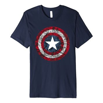Marvel Captain America Avengers Shield Comic Premium T-Shirt